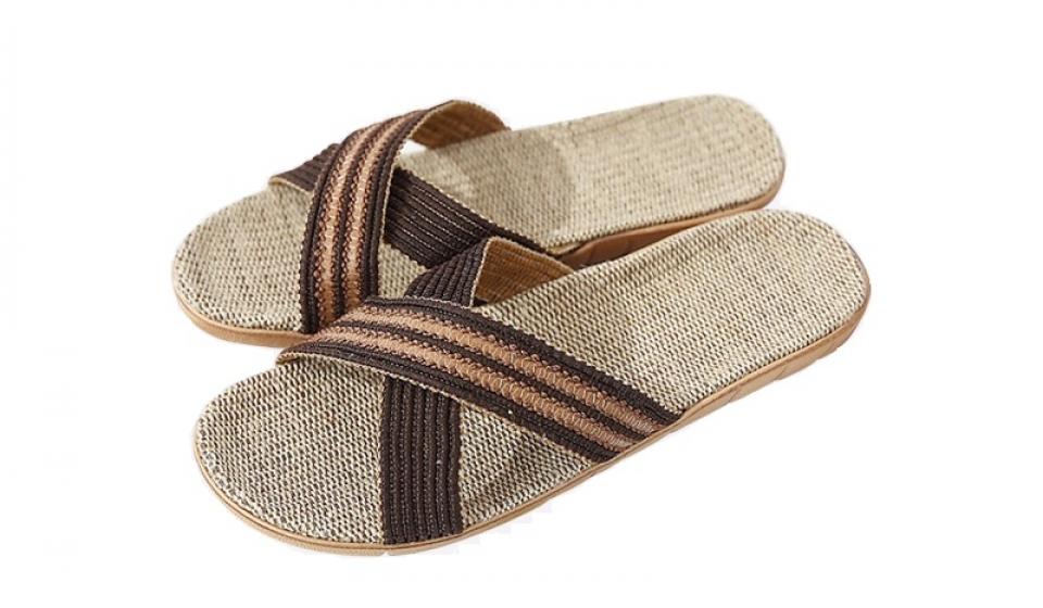 Linen Slippers Male